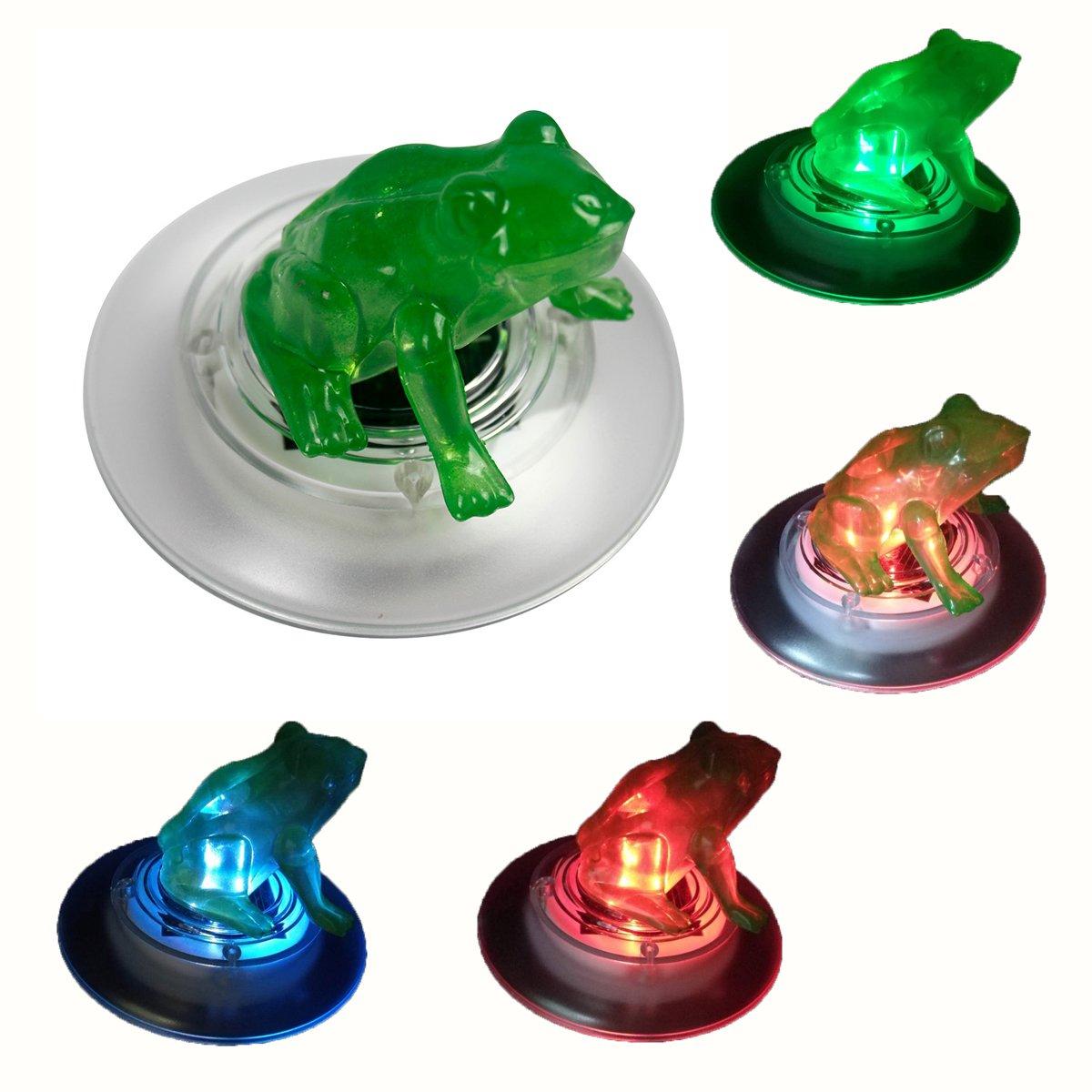 Obell 2-Pack Solar Floating Lights Outdoor LED Color Changing Garden lights Floating Pool Pond Lights Decoration (Frog-2pcs)