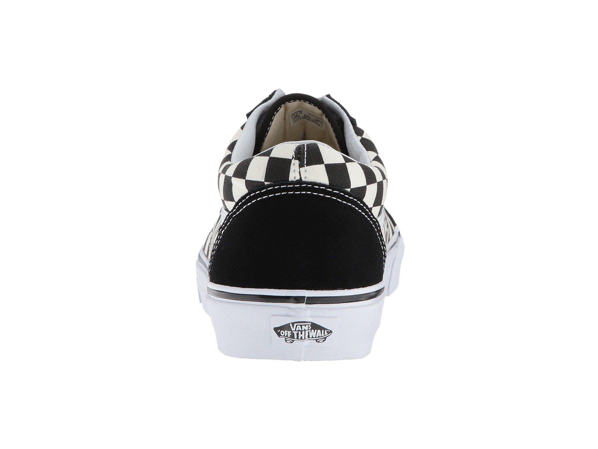 Vans Unisex Checkerboard Old Skool Lite Blk/White Checkerboard Slip-On - 3.5 by Vans (Image #3)