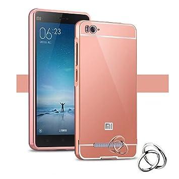 LXHGrowH Funda Espejo Aluminio Metal Carcasa para Xiaomi Redmi 4A Color Rosado