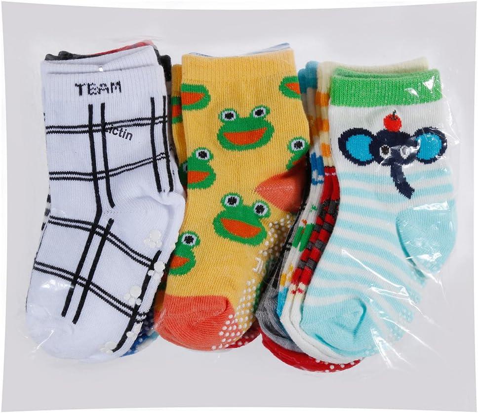 Lictin 14 Pairs Anti-slip Toddler Socks Baby Infants Socks Assorted Kids Socks Animal Print Boys Girls Socks Fun Design Colored Socks Antislip Socks Baby Socks Set Socks Gift for 1-3 Years Baby