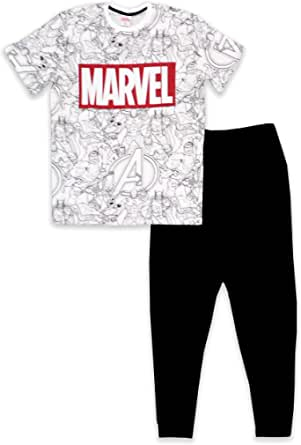 MARVEL Avengers - Conjunto de pijama de algodón para hombre ...