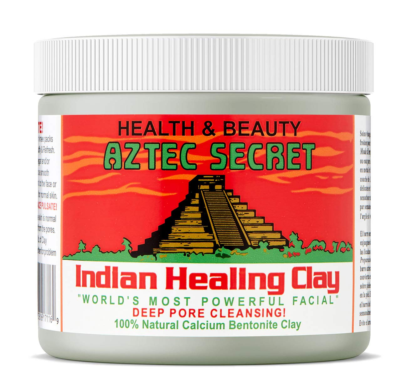 Aztec Secret - Indian Healing Clay - 1 lb. | Deep Pore Cleansing Facial &