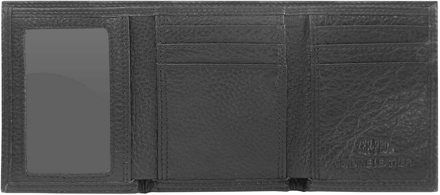 Zeppelin Products Inc NCAA Texas Longhorns Pebble Grain Leather Trifold Concho Wallet