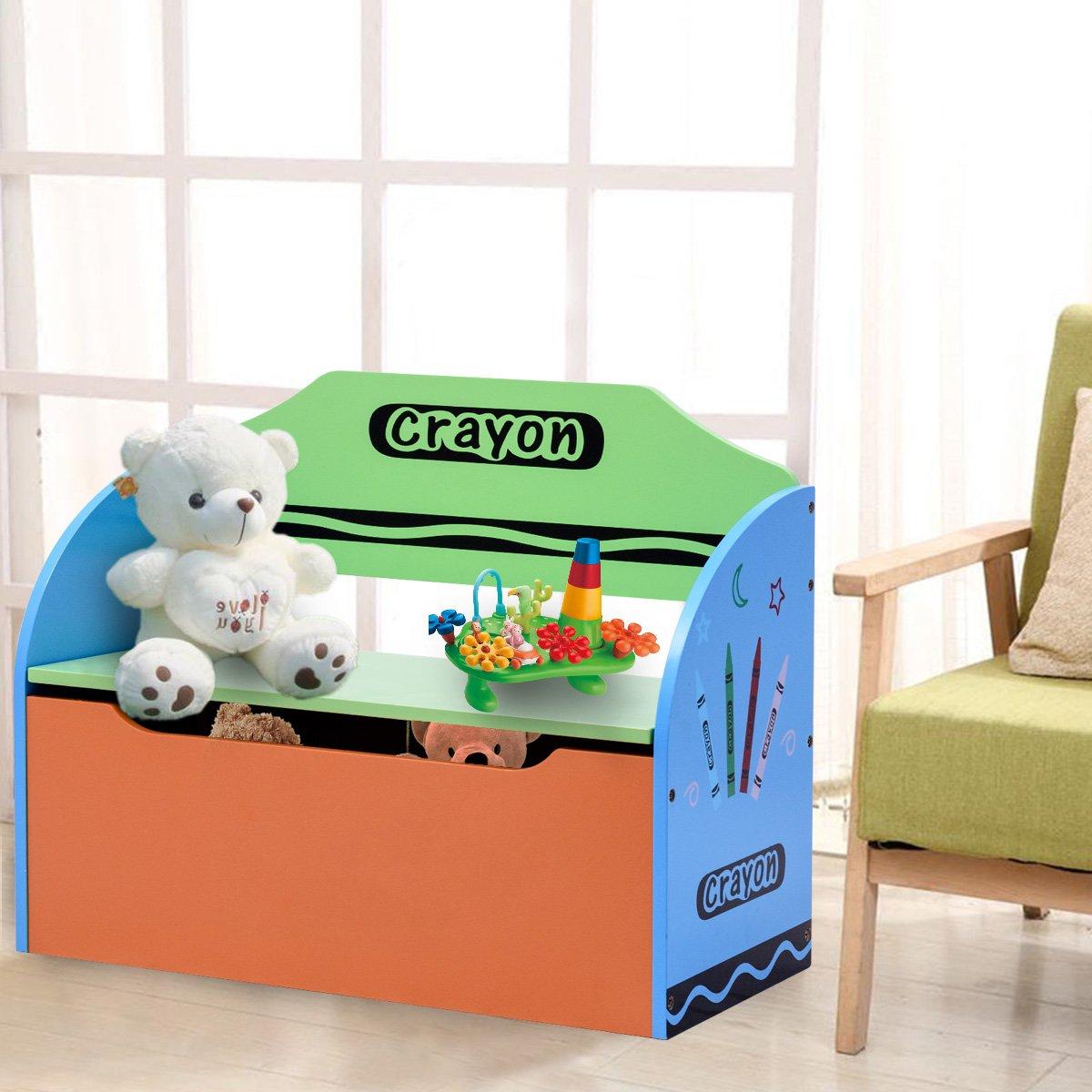 Super Costway Wooden Toy Storage Bench Chair Seat Box Book Chest Unit Organiser Kids Children Download Free Architecture Designs Grimeyleaguecom