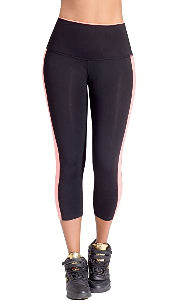 Lowla Colombian Capri Workout High Waisted Leggings for Women Pantalon Deportivo