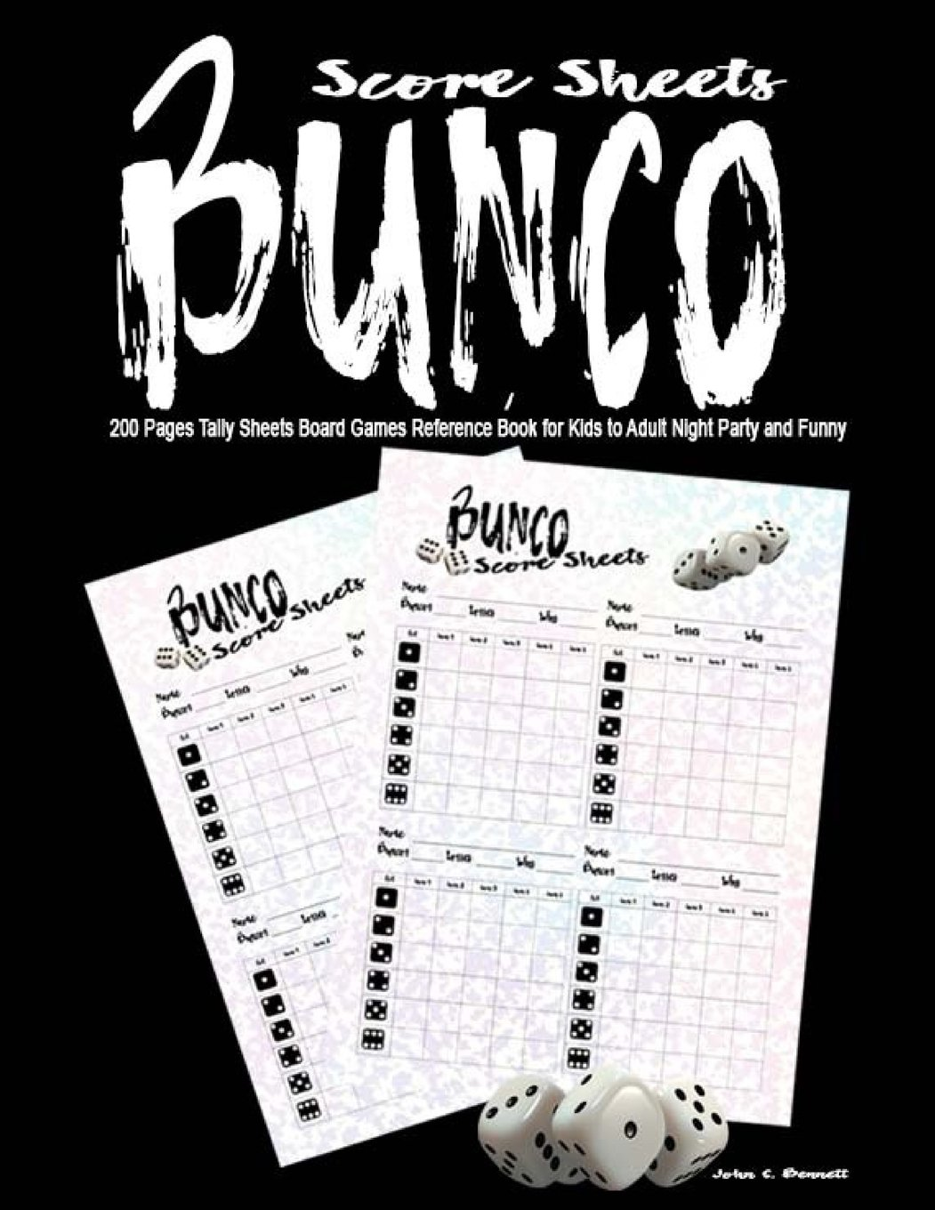 photograph relating to Cute Bunco Score Sheets Printable identified as Bunco Ranking Sheets: 200 Webpages Tally Sheets Board Online games