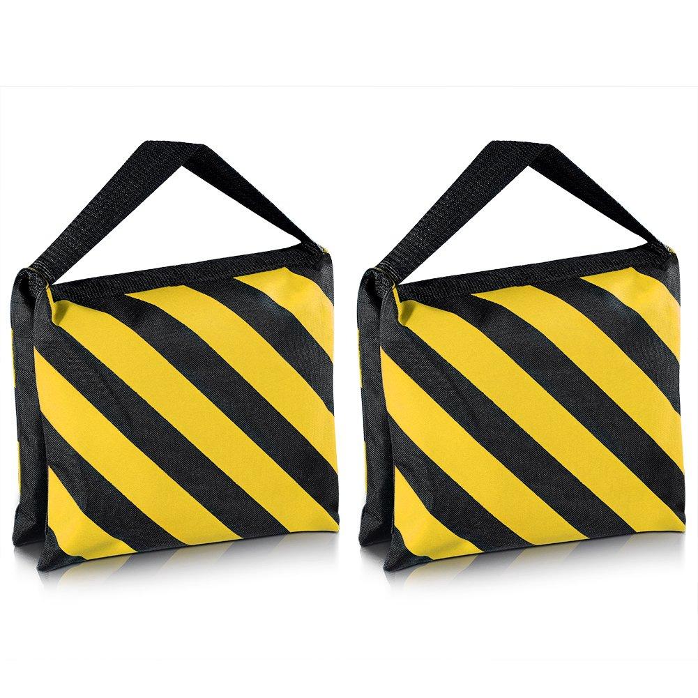 Neewer® Black/Yellow Heavy Duty Sand Bag Photography Studio Video Stage Film Sandbag Saddlebag for Light Stands Boom Arms Tripods 10080932