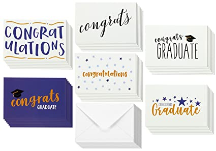 Amazon 36 pack graduation cards blank greeting cards 36 pack graduation cards blank greeting cards greeting cards bulk set graduation greeting cards m4hsunfo Gallery