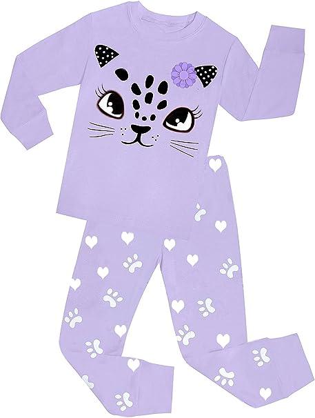 Babylike Dos Conjuntos de Pijama de Gato para los Niños y Niñas de Algodón 100% (2-10 Años): Amazon.es: Ropa y accesorios