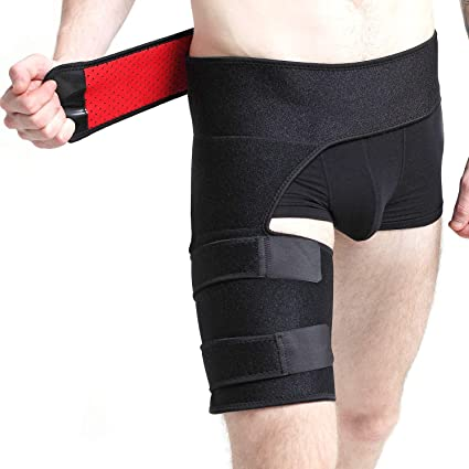 88cc5b2cf8 Groin Support, Hip Brace Sleeve, Compression Groin Wrap for Thigh, Hamstring,  Quadriceps