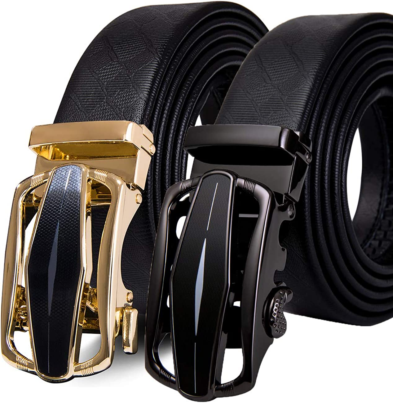 Dubulle Replacement Ratchet Belts /& Automatic Buckle Mens Leather Belt Strap 1 3//8 Sliding Click Buckle