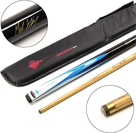 BCE Mark Selby - Electric Shockwave - Taco de billar americano/snooker de 2 piezas y estuche suave: Amazon.es: Deportes y aire libre