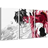 One Piece, Luffy photo, toile de 3 pièces (Total Taille: 120x80 cm), d'impression d'art de haute qualité comme une fresque. Moins cher qu'une peinture à l'huile! ATTENTION NO affiche!