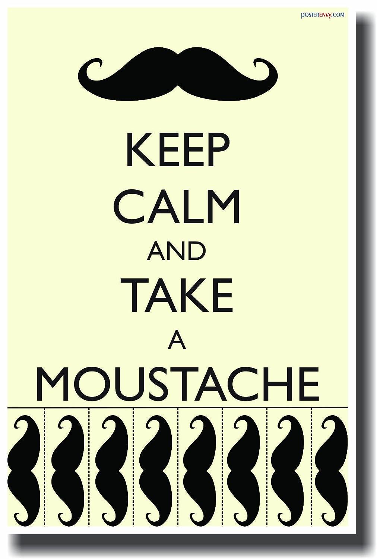 Amazon.com: Keep Calm and Take a Moustache - NEW Humorous Classroom ...