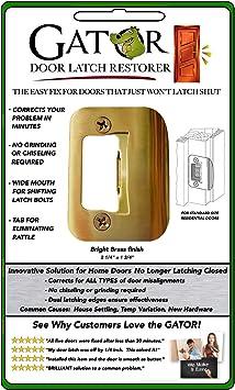 Gator Door Latch Restorer Antique Brass Strike Plate