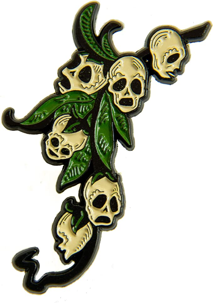 Cute Skull Wooden Brooch Made of wood with a safe metal clasp handmade pin Coloring is ecologically clean and friendly with water