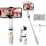 Vlog YouTube Live Video Record w//Case Handheld Selfie Stick Gimbal Tripod for iPhone Android with 26cm Extensional Stick Slide Design Zhiyun Smooth XS Gimbal Stabilizer for Smartphone White