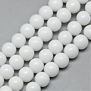 1 x Weiße Jade 16 mm Edelstein Kugel Zubehör Basteln