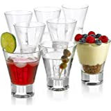Cocktail Glasses 8 Ounce - Set of 8 Seamless Cosmopolitan, Martini Glasses with Heavy Base – Perfect Glassware for Home Bar,