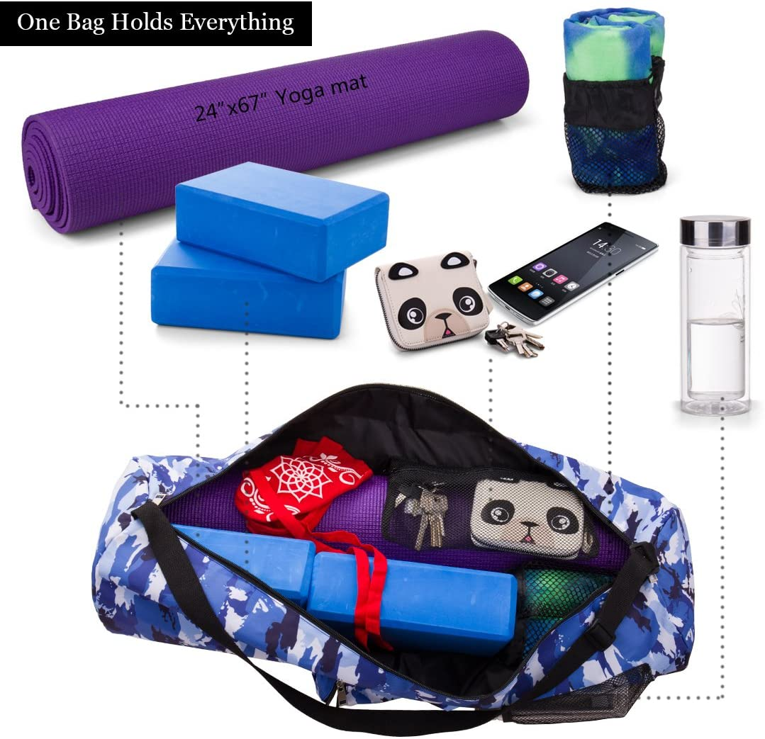 Amazon.com: RoryTory Bolsa para esterilla de yoga con correa ...