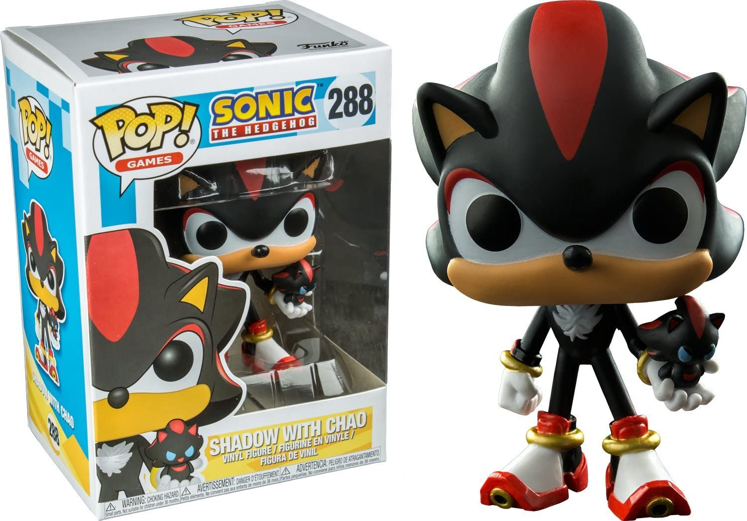 Amazon Com Funko Pop Games Sonic The Hedgehog Shadow With Chao 288 Toys Games