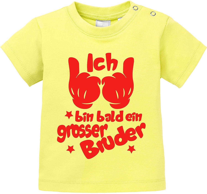 EZYshirt Bald Ein Grosser Bruder Baby T-Shirt Longsleeve
