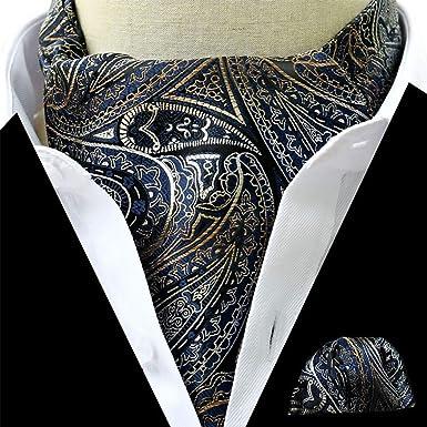 ZOYLINK Hombre Vintage Cravat Bufandas Creativas Corbatas Ascot ...