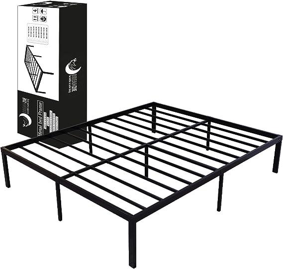 Dreamzie - Somier 135 x 190cm con Patas de 36cm - Bastidor de Cama Individual Plegable Metálico - Montaje Sencillo - Resistente