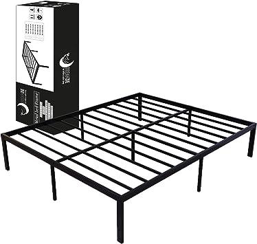 Dreamzie - Somier 150 x 200cm con Patas de 36cm - Bastidor de Cama Individual Plegable Metálico - Montaje Sencillo - Resistente