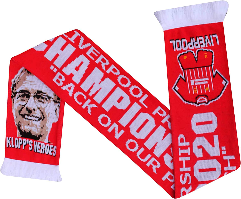 L.F.C Liverpool 2020 Premier Champions /Écharpe Souvenir Football 100/% Acrylique