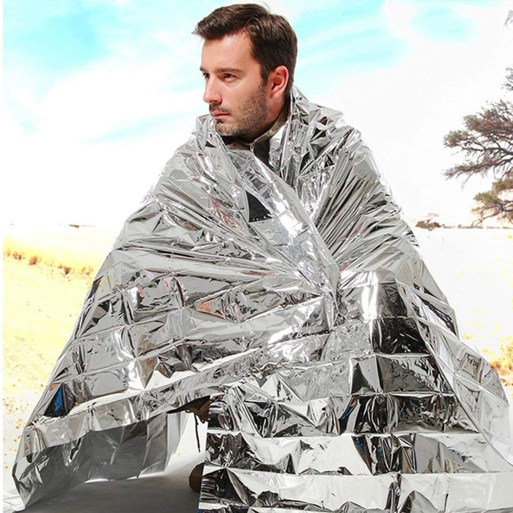 Jiacheng29 Waterproof First Aid Mat Emergency Thermal Keep Warm Outdoor Survival Space Blanket