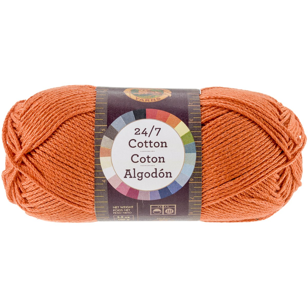 Lion Brand Yarn 761-158 24-7 Cotton Yarn Goldenrod