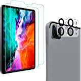 [2+2 Pack] QHOHQ Screen Protector for iPad Pro 12.9 2020 (4th Gen) with Camera Lens Protector,Tempered Glass Film,9H…