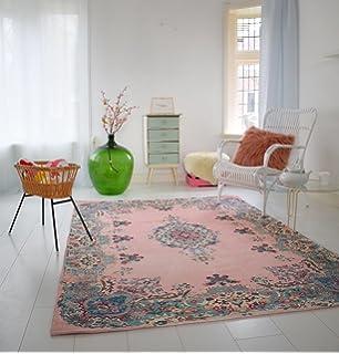 Shabby Teppich amazon de pastell vintage teppich im angesagten shabby chic look