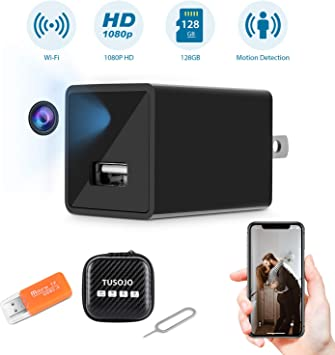 Night Vision HD 1080P Wireless Wifi IP USB Wall Charger Hidden Camera Motion
