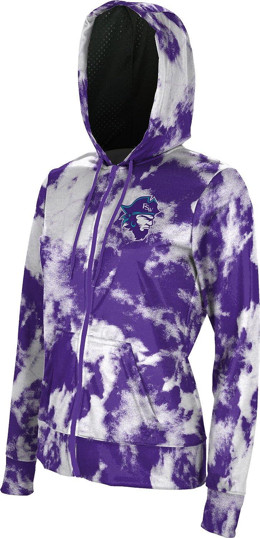 Grunge School Spirit Sweatshirt ProSphere Florida Southwestern State College Girls Zipper Hoodie