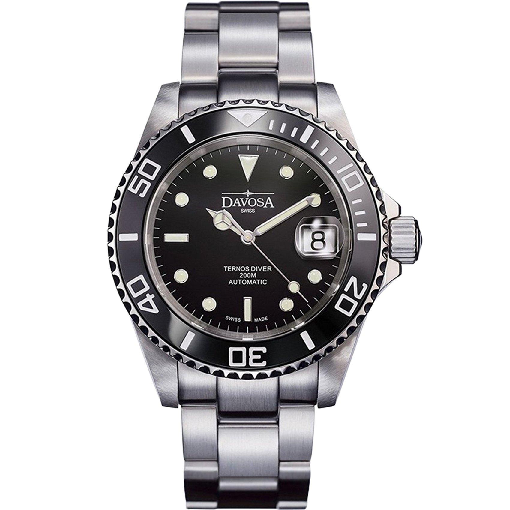 Davosa Swiss Made Men Wrist Watch, Ternos Ceramic 16155550 Professional Automatic Analog Display & Luxury Bezel by Davosa (Image #1)