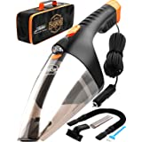 Portable Car Vacuum Cleaner: High Power Handheld Vacuum w/LED Light -110W 12v Best Car & Auto Accessories Kit for Detailing a
