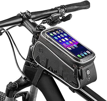 Wheel Up Fahrradtasche Wasserdicht Rahmentasche Oberrohrtasche 6,0/'/' Handyhalter