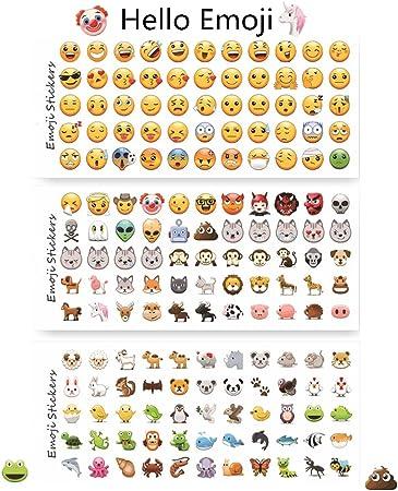 12 hojas pegatinas decorativo divertido Emoji Emoji adhesivo ...