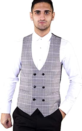 Mens Formal Business Waistcoat Marc Darcy Formal Slim Fit Office Casual Vest