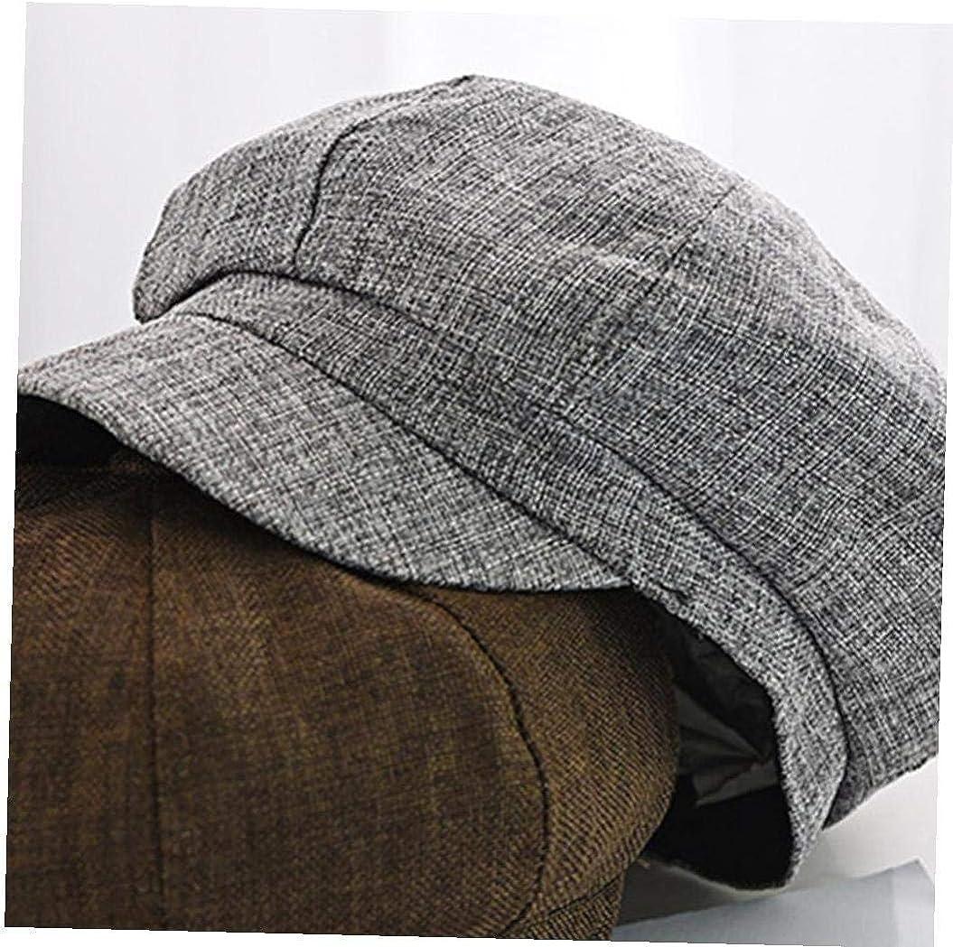 Ladies Beret Caps Cotton Linen Beret Outdoor Breathable Flat Hats Womens Flat Berets Cap Visor Hat
