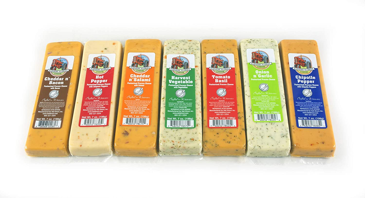 Farmers Market Wisconsin Specialty Cheese Blocks 7oz each (7 blocks)