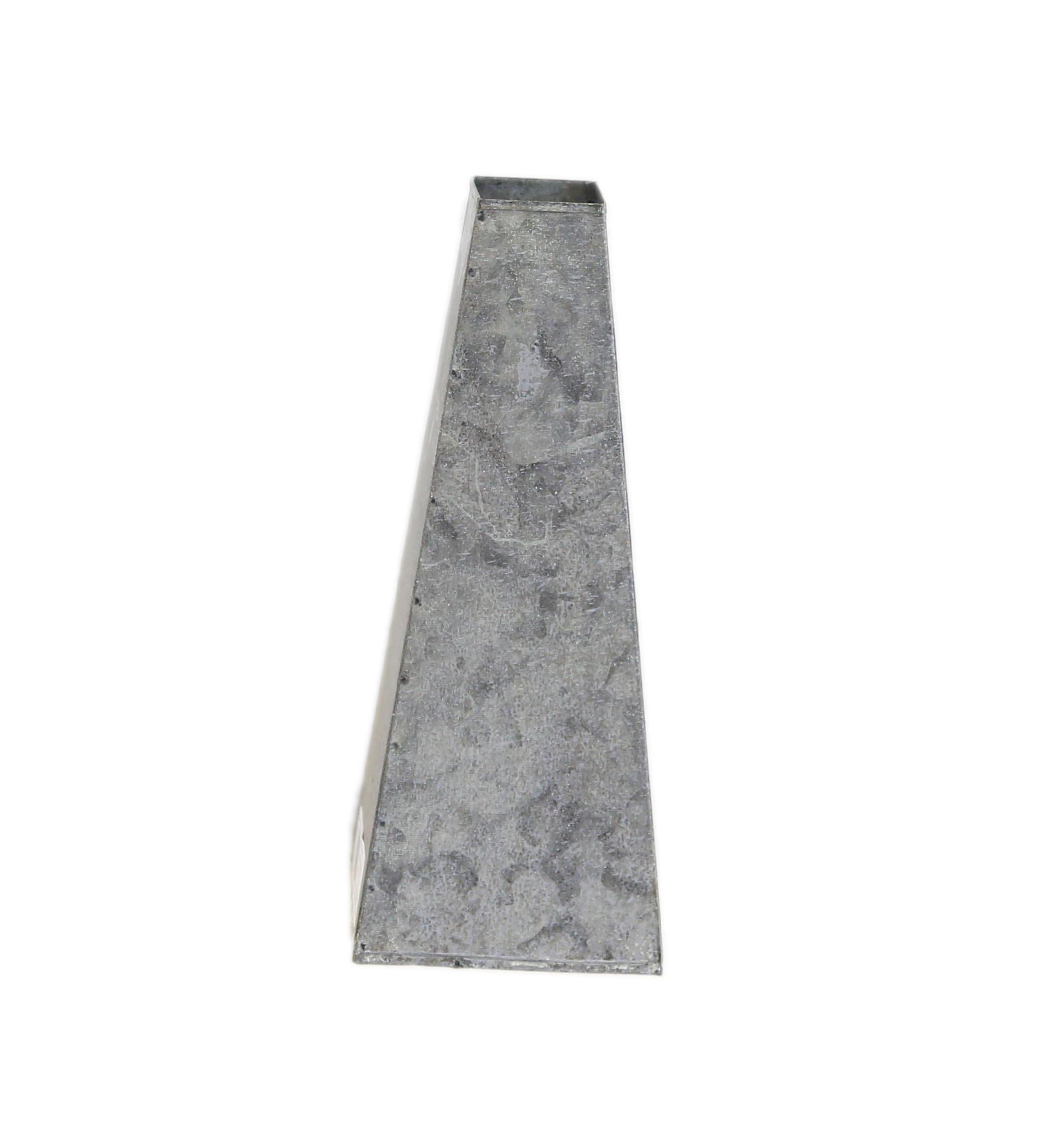 Large Gray Zinc Tapered Vase