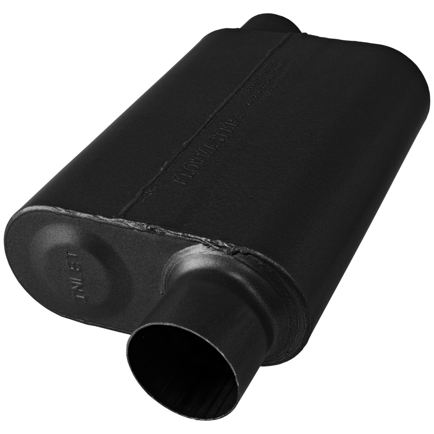 Flowmaster 8043043 40 Series Muffler 409S 3.00 Offset OUT Aggressive Sound 3.00 Offset IN