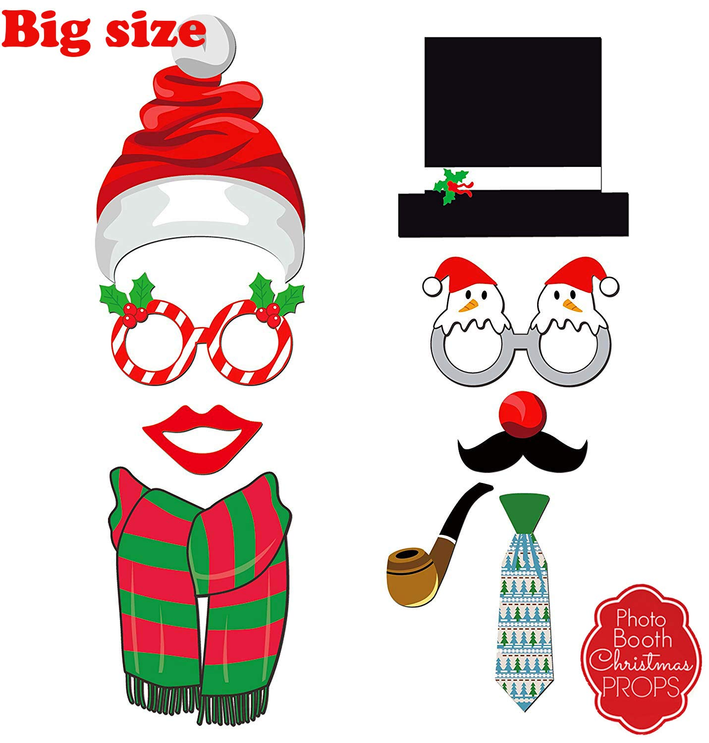 Christmas Party Photo Booth Props Gifts Knit 47 Ugly Sweater