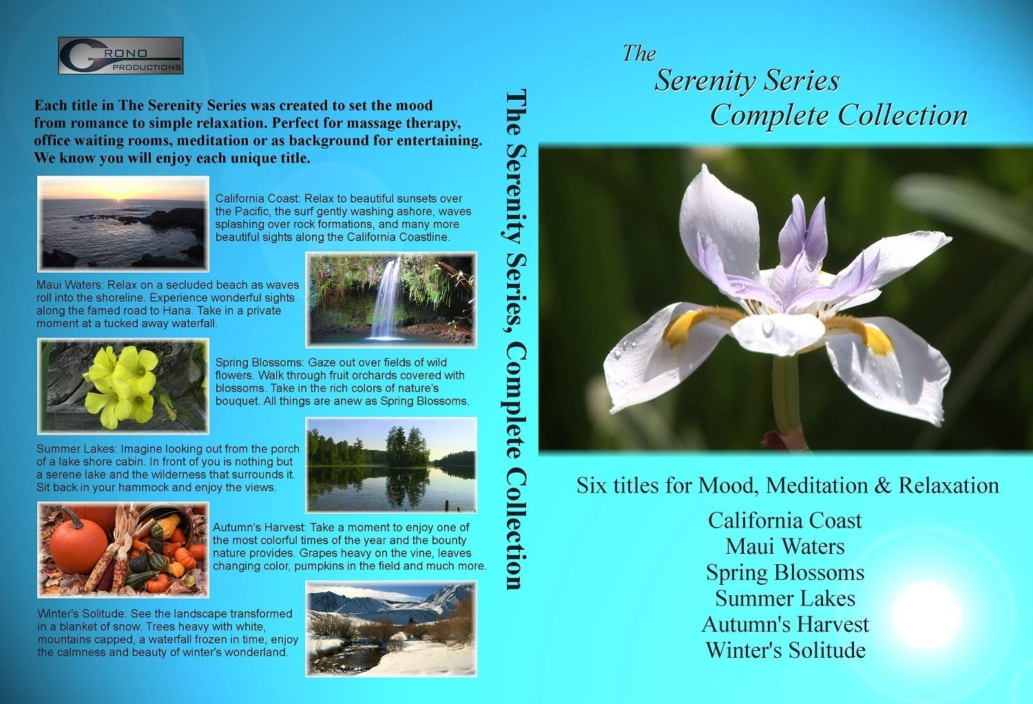 The Serenity Series, Complete Collection - (6 videos): California Coast, Spring Blossoms, Summer Lakes, Autumn's Harvest, Winter's Solitude, Maui Waters [Blu-ray]... for Mood, Relaxation & Meditation