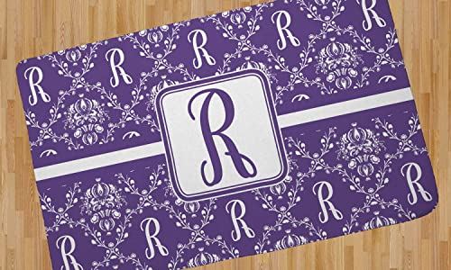 YouCustomizeIt Initial Damask Area Rug – 4 x5 Personalized
