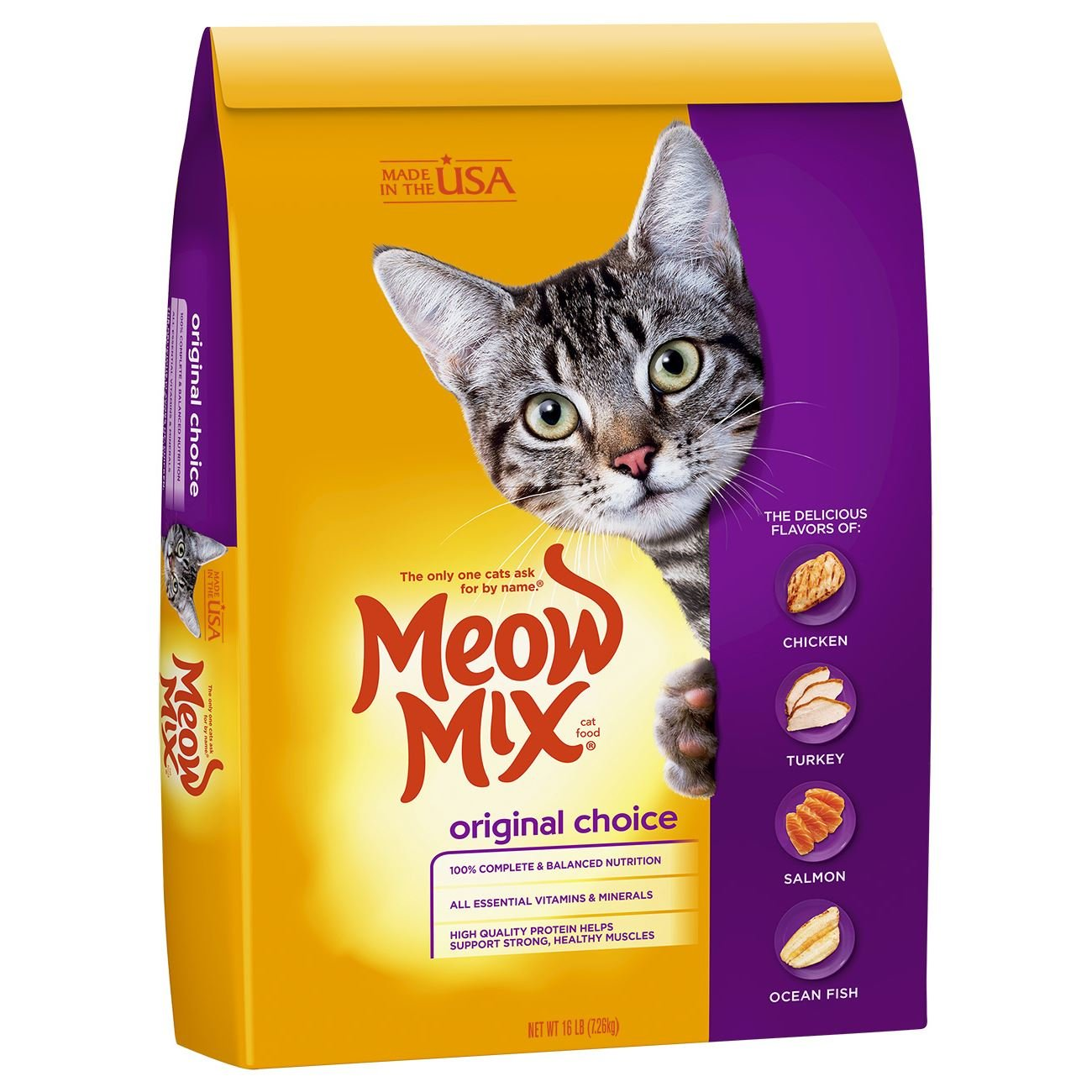 Amazon Com Meow Mix Original Choice Dry Cat Food 16 Lb Dry Pet