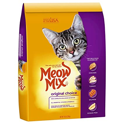 Amazon Meow Mix Original Choice Dry Cat Food 16 Lb Dry Pet